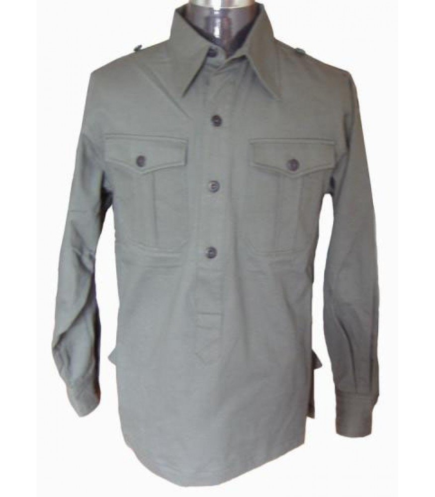WW2 German soldier grey shirt