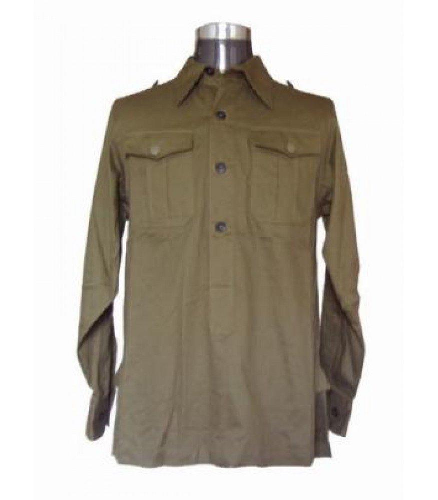 WW2 German Afrika Korps long sleeved green shirt