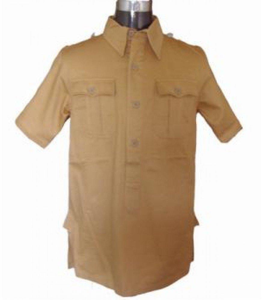 WW2 German Afrika Korps short sleeved tan shirt