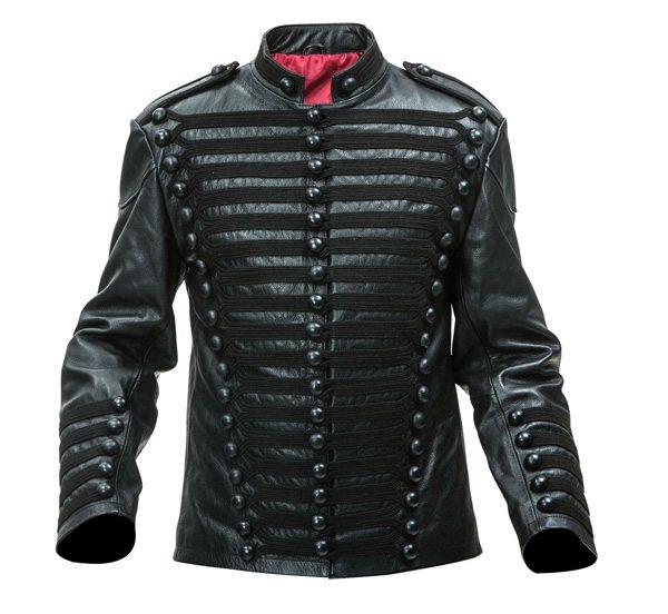 Leather British Hussars Tunic black frogging