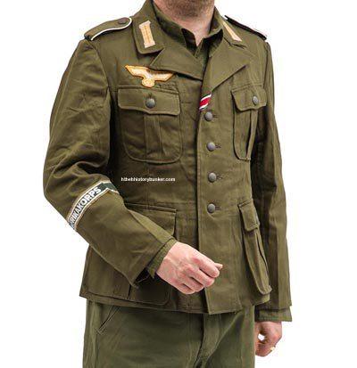 WW2 Afrika Korps tunic olive green