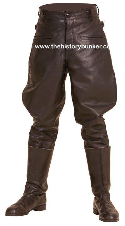 WW2 German m32 officer breeches black leather