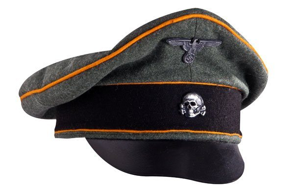 WW2 German SS officers wool visor cap Feldgendarmerie