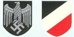 WW2 German Army Helmet Decal Heer