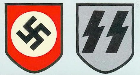 WW2 German SS Helmet Decal