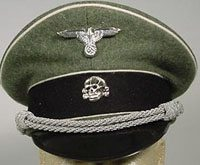 WW2 German SS officers visor cap