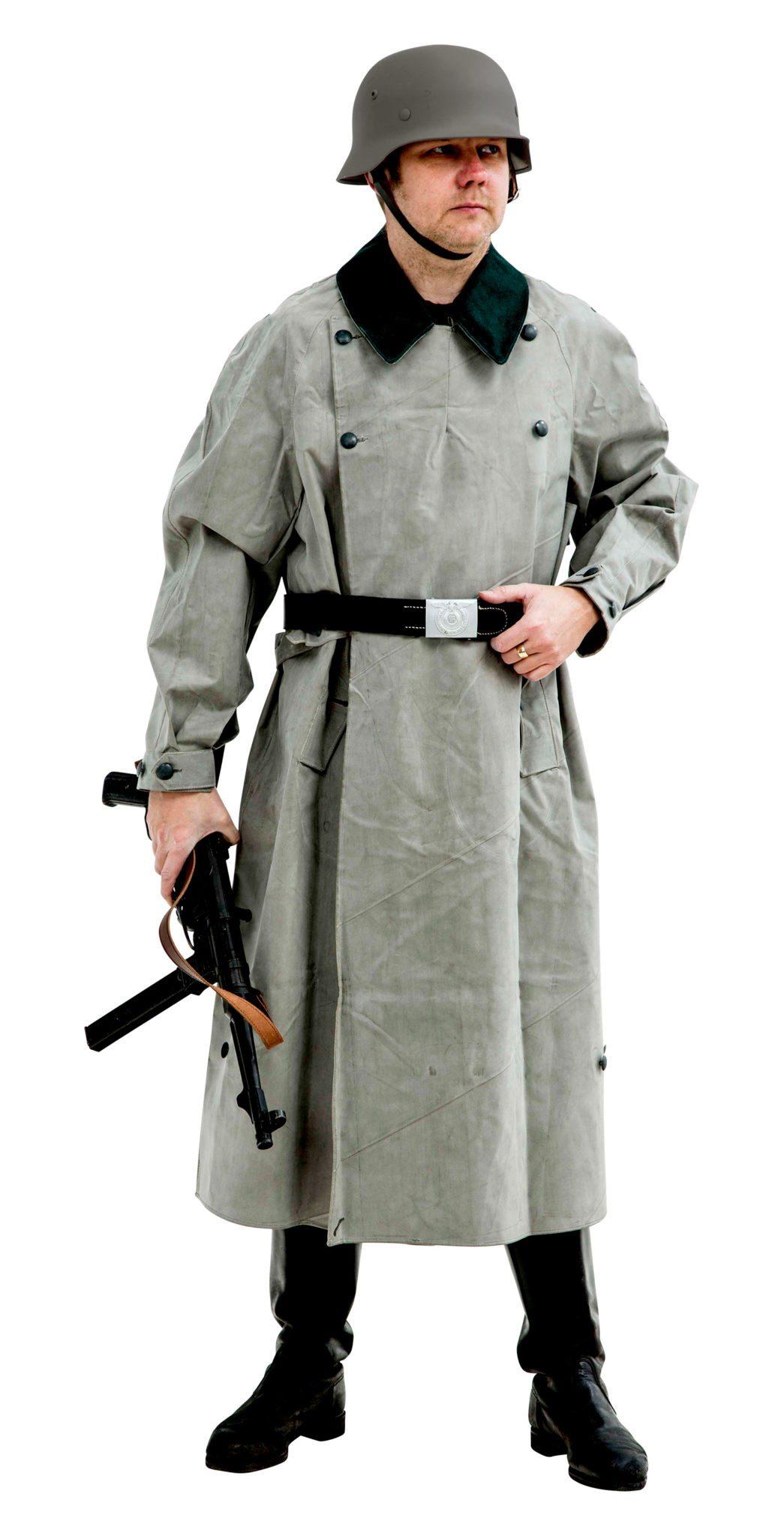 WW2 German Kradmantel Rubber Motorcycle coat