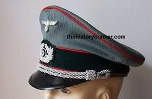 WW2 German Army officers tricot cap ARTILLERY
