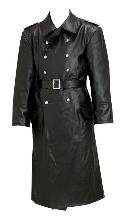 WW2 German Army officer leather trench coat