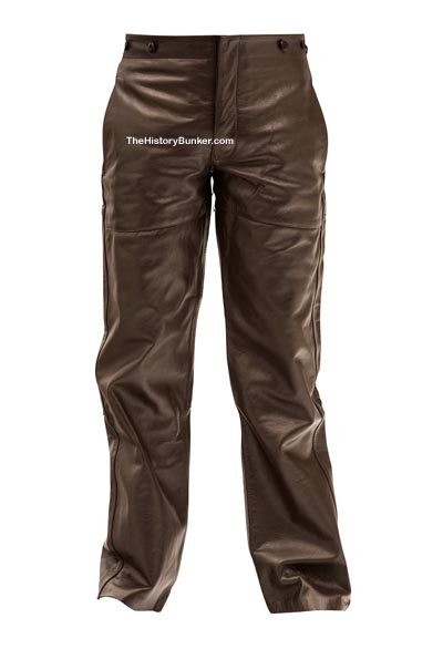 WW2 German U Boat trousers brown leather