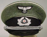 WW2 German Army officers visor cap wool