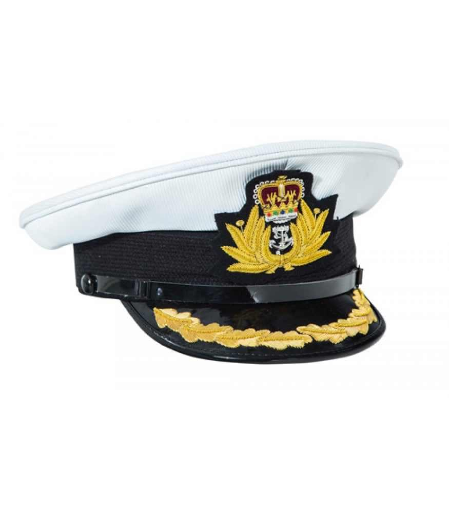 Royal Navy Commanders white top peaked cap