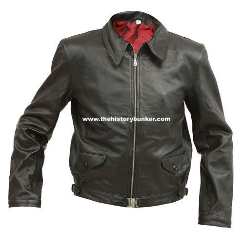 WW2 German Luftwaffe Pilots leather jacket - black