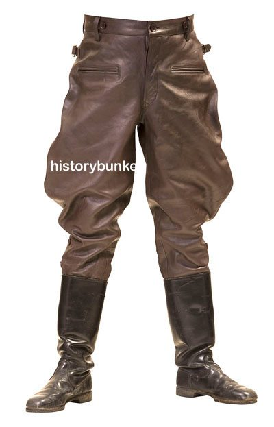 WW2 German m32 breeches brown leather