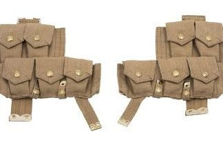 WW1 British P08 webbing ammo pouches 1 pair