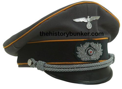 WW2 German Army officers tricot cap FELDGENDARMERIE