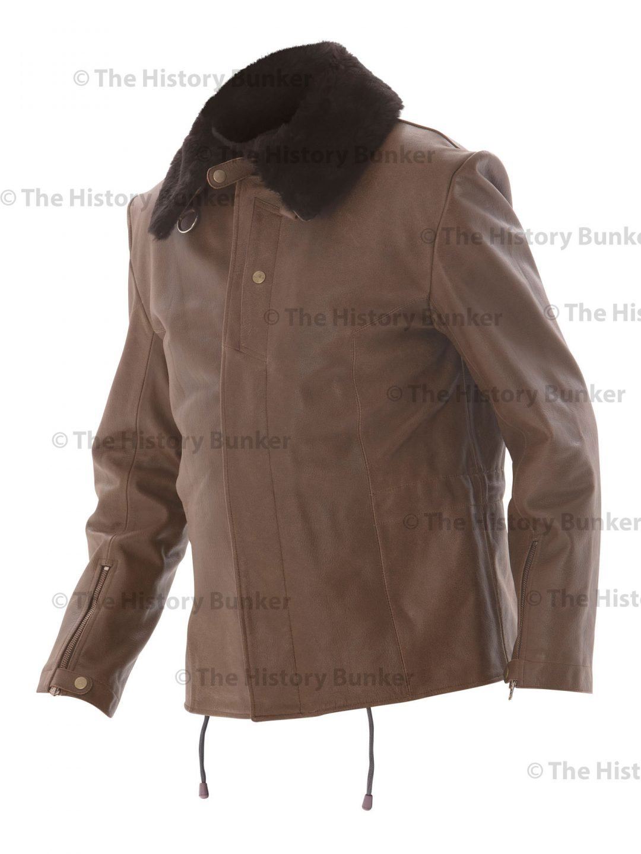 WW2 German Luftwaffe Jet Pilots leather jacket - brown
