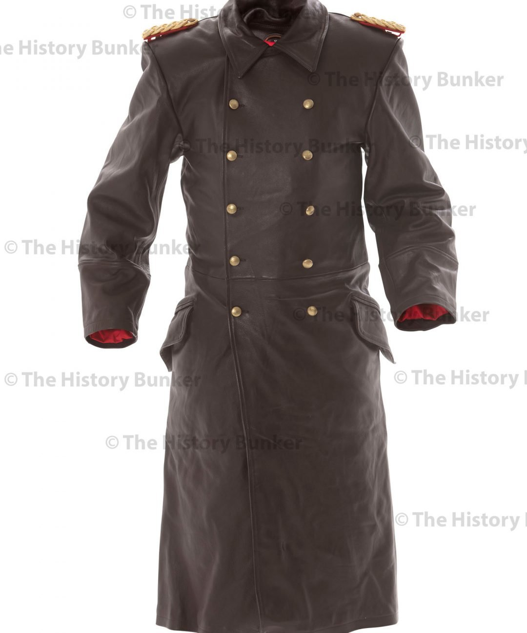 WW2 German Army Senior officer leather trench coat - brown